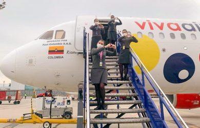 Vuelo de Viva Air entre Houston y Bogotá.