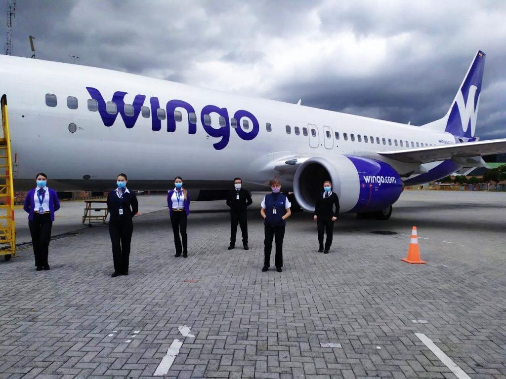 Vuelo de repatriación de Wingo entre Panamá y Bogotá.