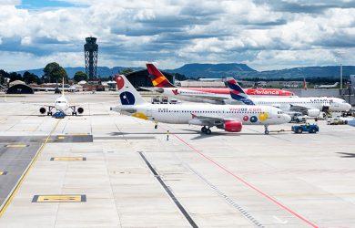 Plataforma del Aeropuerto Eldorado de Bogotá.