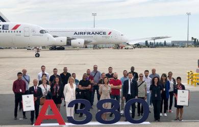 Despedida del Airbus A380 de Air France.