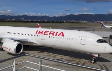 Airbus A350 de Iberia en Bogotá.