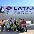 Boeing 767-300F de LATAM Airlines como avión solidario.