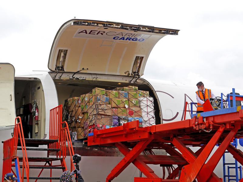 Transporte de carga de AerCaribe en Bogotá.