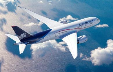 Boeing 787-8 de Aeroméxico en vuelo.