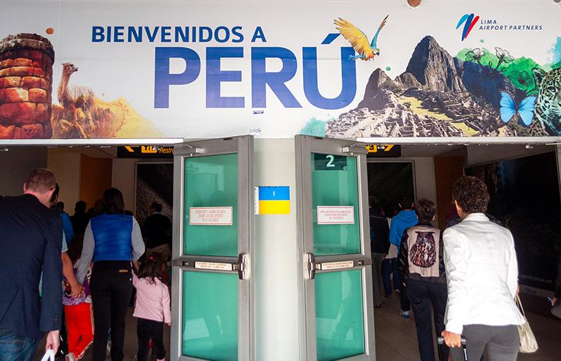 Aeropuerto Jorge Chávez de Lima, Perú.