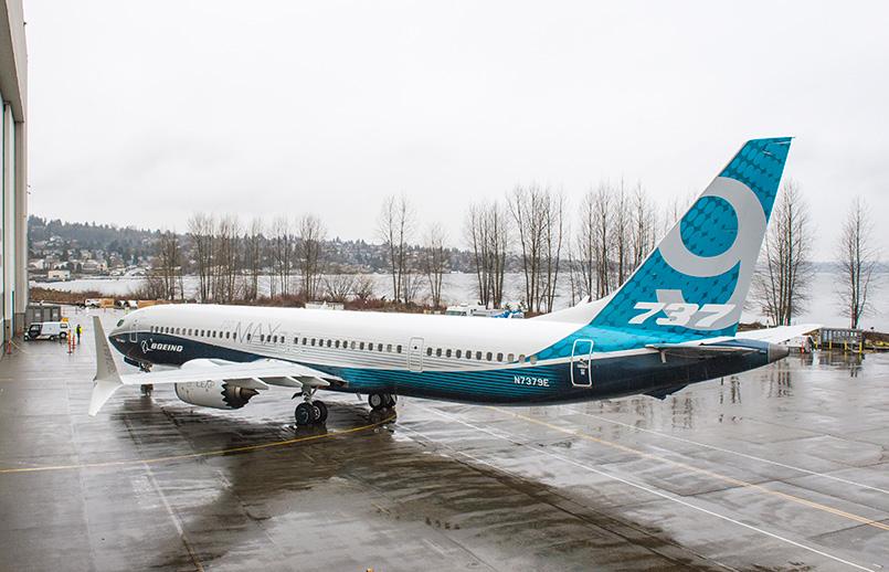 Presentación del Boeing 737 MAX 9.