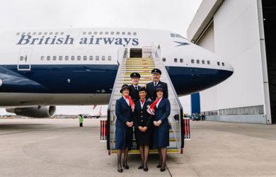 Tripulación de British Airways.