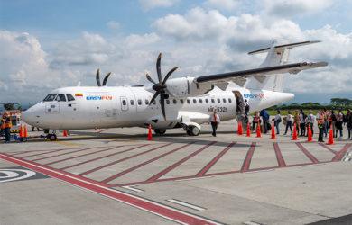 ATR 42-600 de EasyFly en el Aeropuerto El Edén de Armenia.
