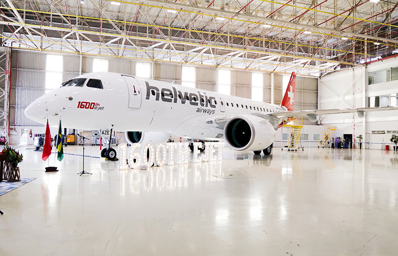Embraer 190-E2 de Helvetic Airways.