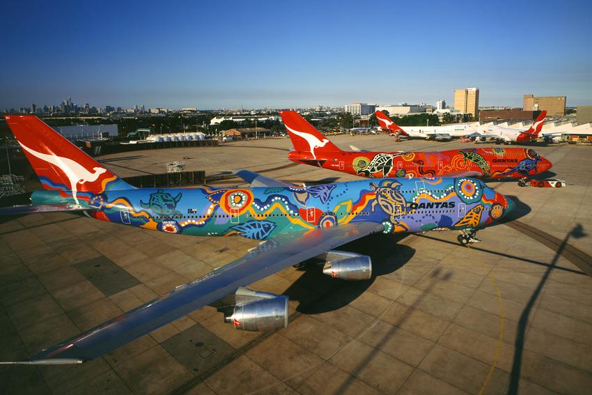 Flota de Boeing 747 de Qantas.