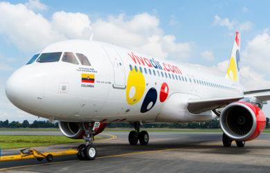 Airbus A320 de Viva Air en Bogotá.
