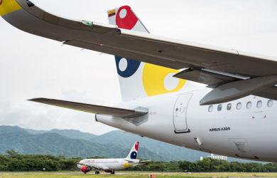 Airbus A320 de Viva Air en Santa Marta.
