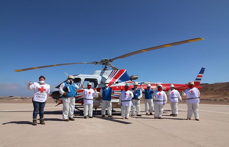 Airbus Helicopters H125 transportando insumos médicos en Chile.