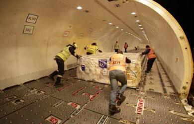 Avión solidario de LATAM Cargo.