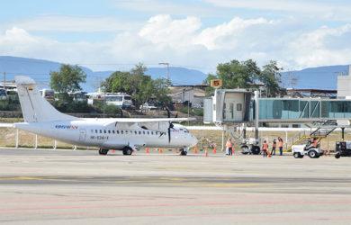 ATR 42-600 de EasyFly en el aeropuerto Camilo Daza de Cúcuta.