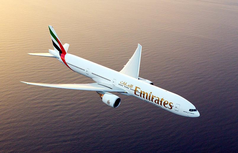 Boeing 777-300 de Emirates.