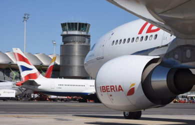 Iberia y British Airways en Madrid.