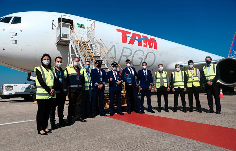 Inauguración de la ruta Miami-Florianópolis de LATAM Cargo.