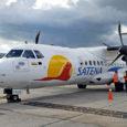 ATR 42-600 de SATENA en el Terminal Puente Aéreo.