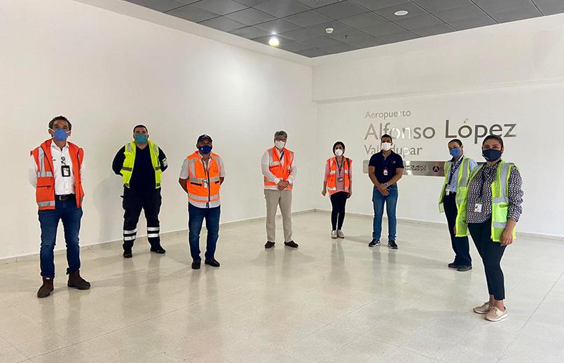 Visita de Aerocivil al aeropuerto Alfonso López de Valledupar.