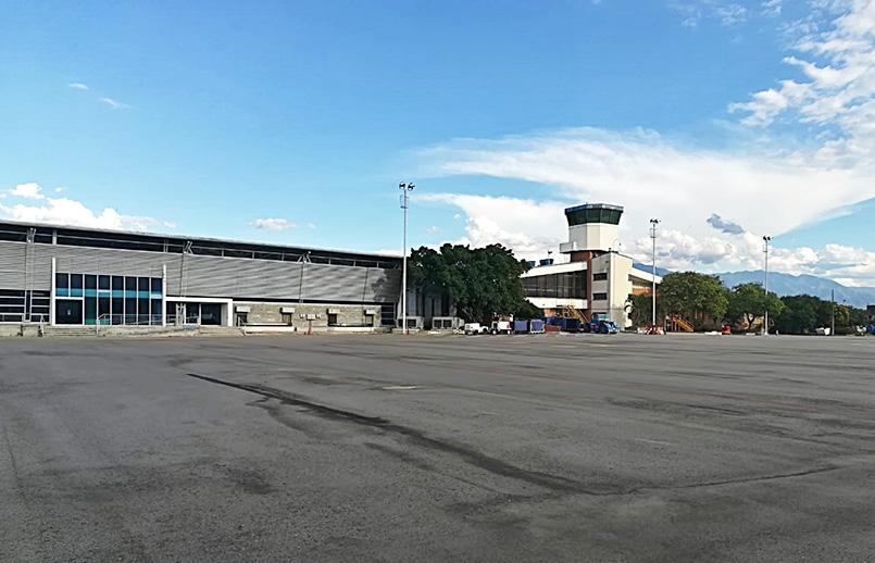 Plataforma del Aeropuerto Benito Salas de Neiva, Huila.