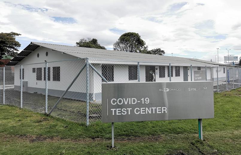 Test Center de COVID-19 del Aeropuerto Eldorado de Bogotá.