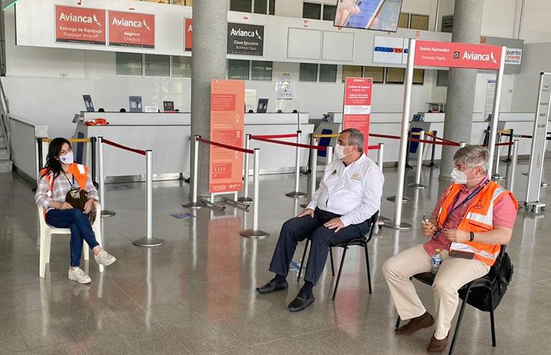 Verificación en bioseguridad del aeropuerto Yariguíes de Barrancabermeja.