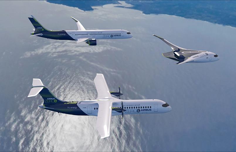 Propuesta de aviones del futuro de Airbus.