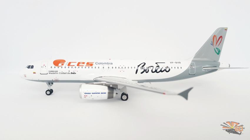 Modelo de un Airbus A320 de Aces con livery de Alianza Summa.