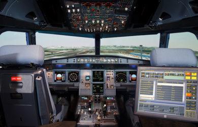 Simulador de A320 FFS de GTA en Madrid.
