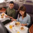 Servicio a bordo de Singapore Airlines.