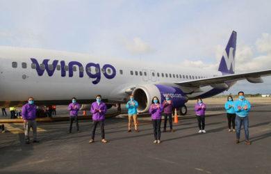 Boeing 737-800 de Wingo en Cartagena.