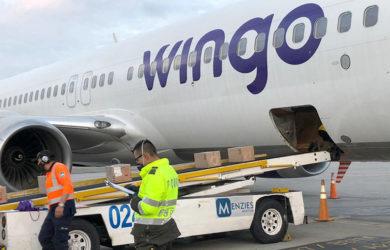 Transporte de carga en un Boeing 737-800 de Wingo.