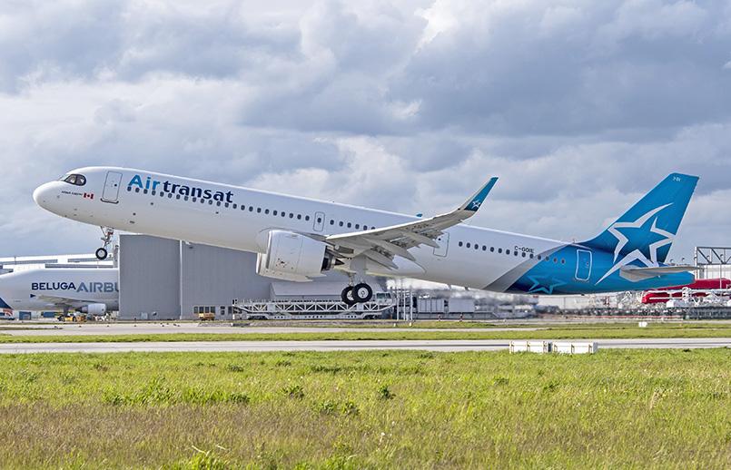 Airbus A321LR de Air Transat.