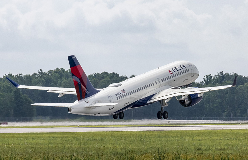 Airbus A220-300 de Delta Air Lines ensamblado en Mobile, Alabama.