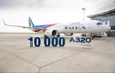 Entrega del A320 No. 10.000 a MEA.