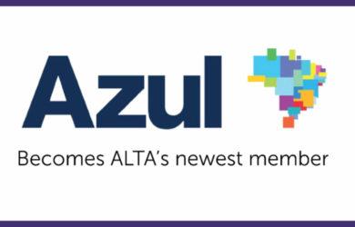 Logo de Azul como nuevo miembro de ALTA.