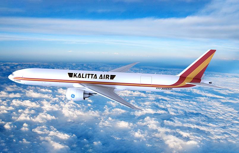 Prototipo del Boeing 777-300ERSF de Kalitta Air.