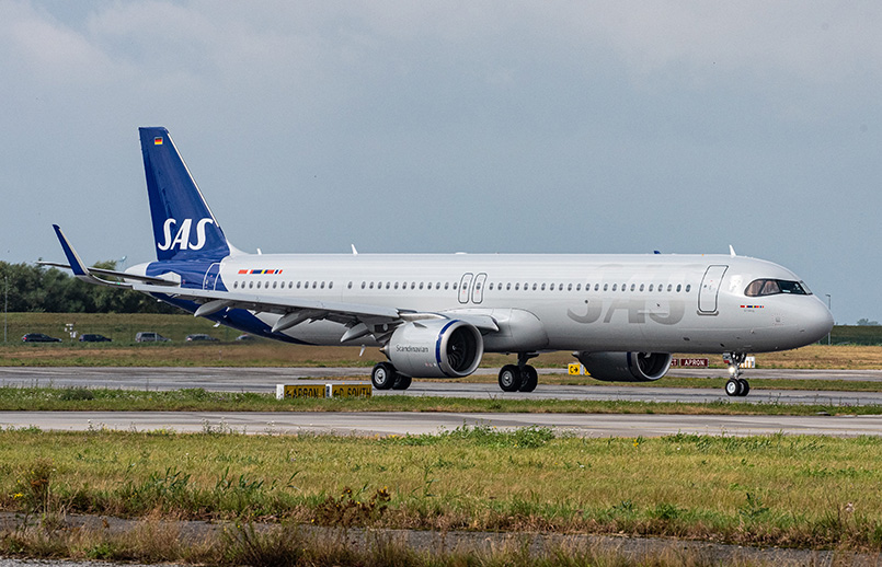 Airbus A321LR de SAS.