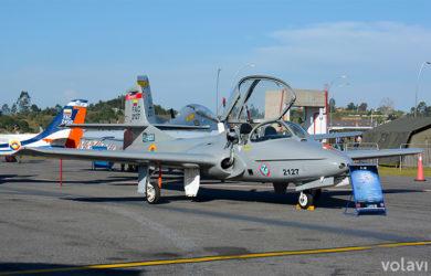 "Cessna T-37B ""Tweet"" de la Fuerza Aérea Colombiana (FAC)."