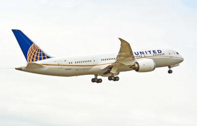 Boeing 787-8 de United Airlines.