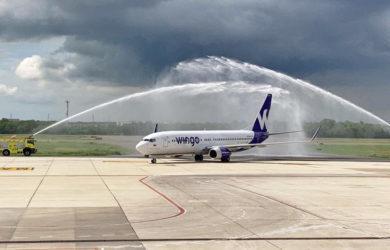 Bienvenida al Boeing 737-800 de Wingo en Cali.