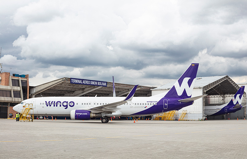Boeing 737-800 de Wingo en Bogotá.