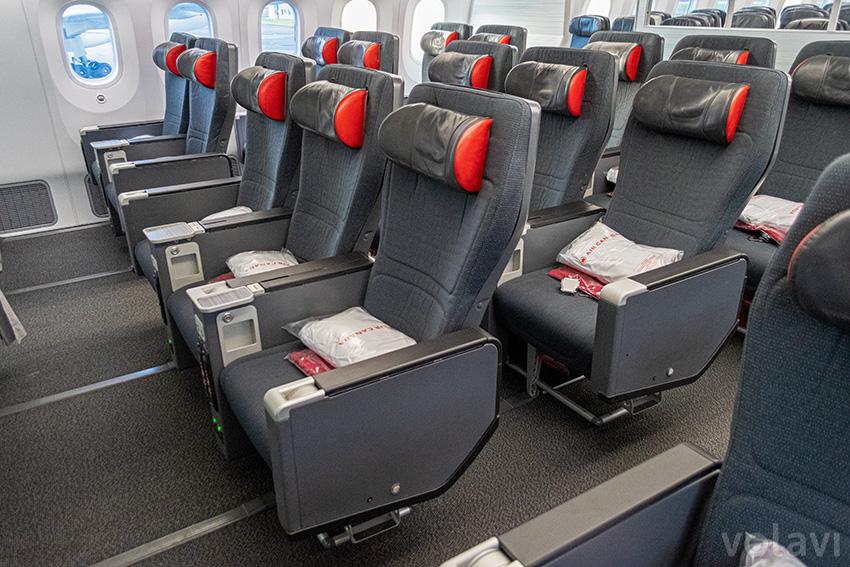 Premium Economy de Air Canada en un Boeing 787-9.
