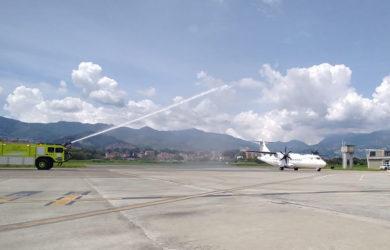Vuelo inaugural de EasyFly entre Medellín y Cartagena.
