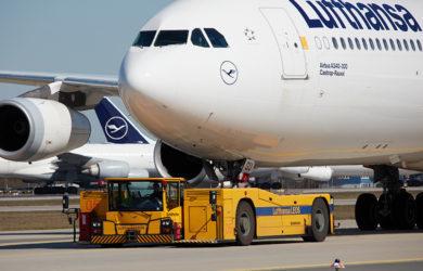 Airbus A340-300 de Lufthansa.