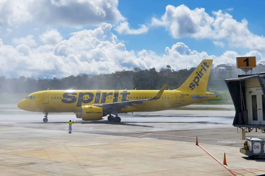 Inauguración del vuelo entre Fort Lauderdale y Bucaramanga de Spirit Airlines.