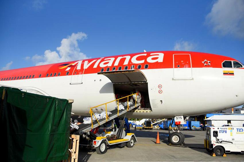 Airbus A330 de Avianca en San Andrés.
