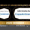 Reconocimiento a Copa Airlines como aerolínea latina de la década.