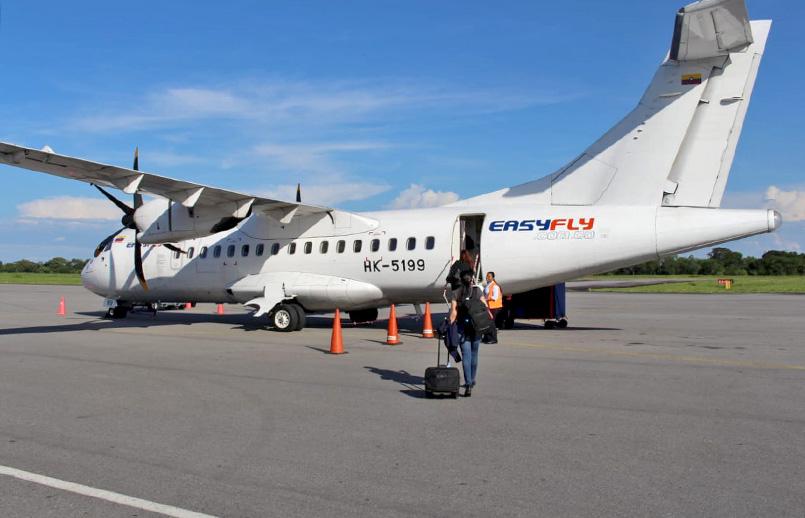 ATR 42-600 de EasyFly en plataforma.